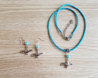 Lamp Jewelry. Necklace and earrings Set