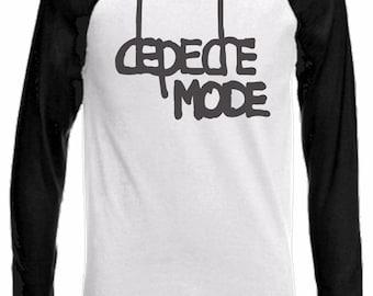 Long Sleeve Baseball T-Shirt with DEPECHE MODE logo