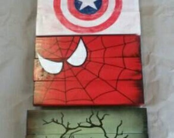 Marvel Comics Wood signs. New hand painted.