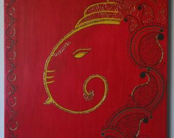 ganesha painting/ ganesha acrylic painting/ mehndi painting/ henna painting/ mehndi design/ henna design