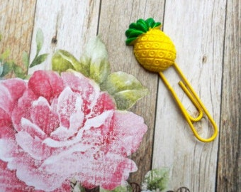 Pineapple Paper Clip / Planner Clip/ Planner Accessory / Paperclip  / Resin Paper Clip