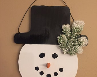 Wooden Snowman/Wall hanging snowman/Front door snowman / 3 styles available