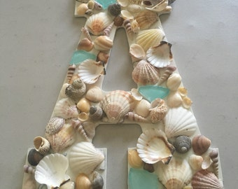 Seashell alphabet letters