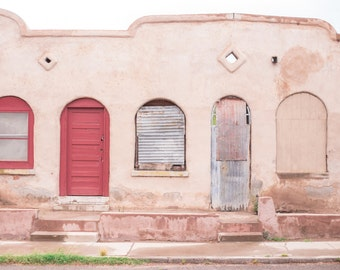 Soft Pink, Doors, Windows, Desert, Architecture, Arched Windows, Adobe, Print, Wall Art, Fine Art, Photograph, Shades of Pink, Feminine