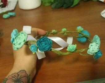 Blue Roses Flower Crown