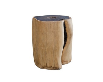 Rosewood Stool/Side Table - Round and naturally organic shape