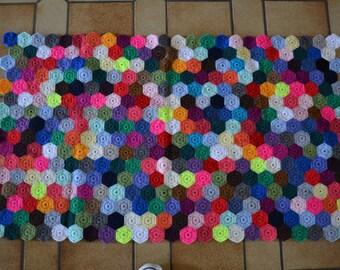 Plaid / threw multicolor bed 160 x 91