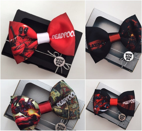 deadpool bow tie by wowbowties on etsy