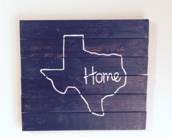 Reclaimed Wood Pallet Home Sign