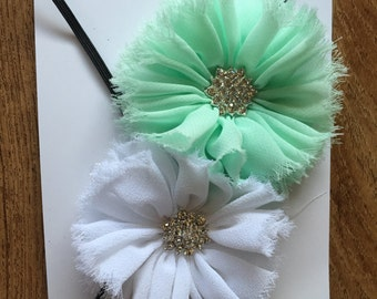 Baby Headband - Mint or White