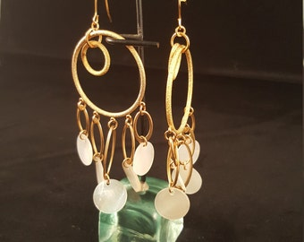 Gold Dangling Hoops