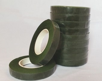 1 Roll Green Stem-Tex Floral Tape 13mm Wide