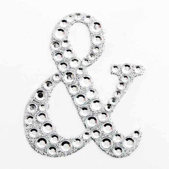Large 5cm self adhesive diamante rhinestone glitter for Large adhesive rhinestone letters