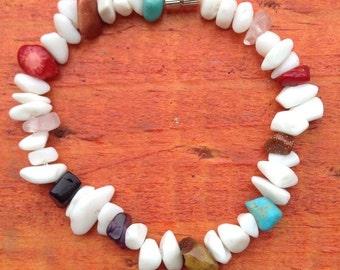 White Onyx Beaded Bracelet