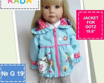 Jacket pattern for 19,8 inch dolls (Gotz, American girl or similar measurements doll