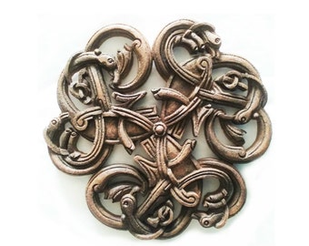 Celtic Spiral Plaque handcrafted animal art, wall hanging