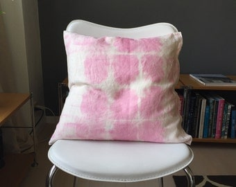 Cochineal hand dyed throw pillow case