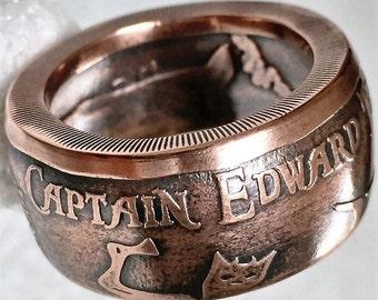 Captain Edward Teach BLACKBEARD rings