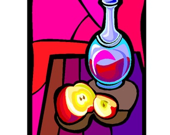 Stained Class Clipart, Clip Art of Stained Glass, Digital Clipart