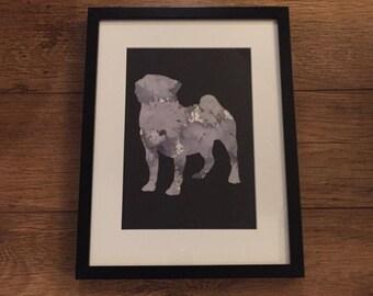 Pug Silhouette Print