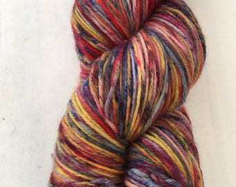 Hand-dyed Merino sock yarn Fruitpunch