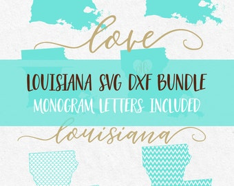 Louisiana State Svg Svg Bundle Svg Font Svg monogram font Cricut svg Silhouette svg designs png dxf jpg svg cutting files meramaid pattern