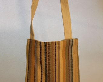 Small Fabric Striped Bag Item #B17