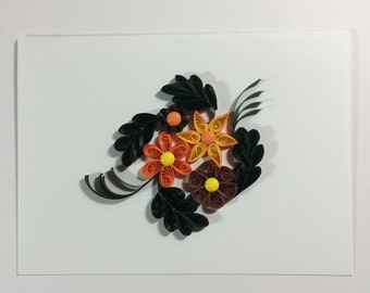 Paper Quilled Blank Card