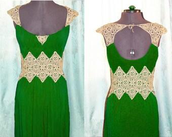 crochet and fabric dress,elegant boho refashioned dress, alternative wedding dress,  PDF pattern for crochet parts. detailed instructions
