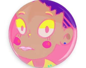 Pink Girl Button