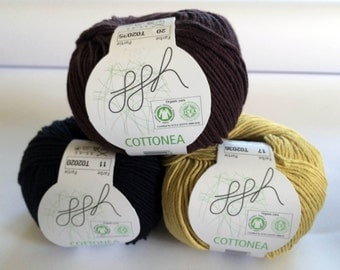 Organic cotton crochet yarn Knitting yarn 50 g Waldorfpuppe hair yourself make vegan