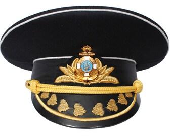 Ukrainian visor cap Admiral Navy VMS