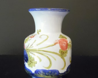 Fusari Orvieto Small Vase ~ Hand Painted Italian Vase ~ Orvieto Italy Hand Painted
