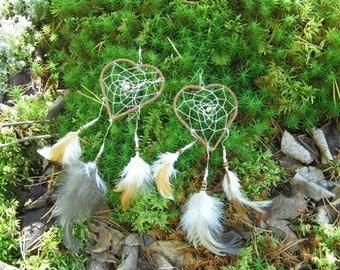 LoveCatcher Earrings made into lovely dreamcatchers
