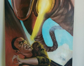 Table bioshock infinite (oil painting) 33 x 24 cm