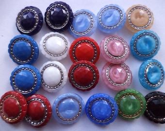 18 mm (5054) glass button 21 glass buttons