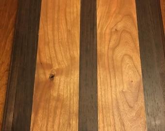 Walnut Cherry and Wenge 12x14 Cutting Board