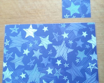 Child's Placemat & Coaster Set- Glittery Stars