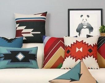 Sale - Native American Geometric Decorative Pillow Case