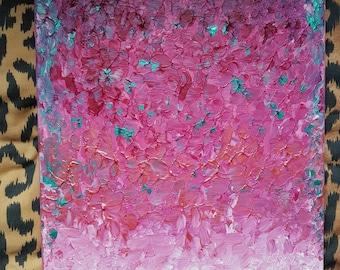Pink acrylic canvas