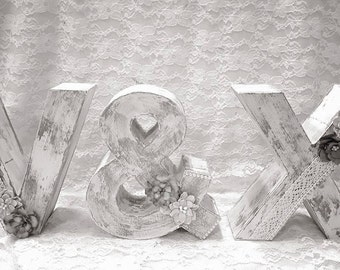 Letters for vintage wedding