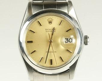 Mens Rolex Watch 6694 1973 Vintage OysterDate Stainless 1 Yr. Warranty