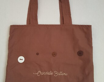 Chocolate buttons tote bag (Chocolate buttons collection)