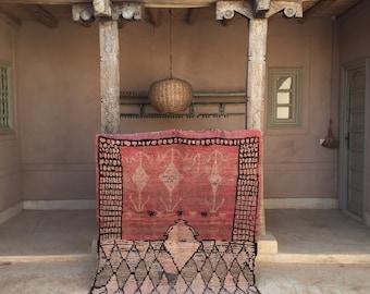 "AILA 4'11"" x 6'1"" - Moroccan Berber Beni Ourain Azilal Boucherouite Boujaad Beni Mguild Rug"