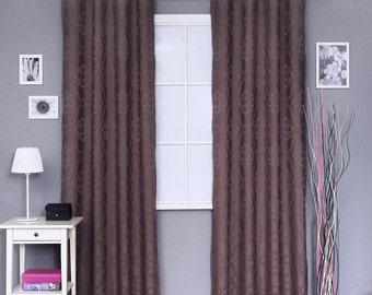 Pair of custom made vintage looks grommet curtains
