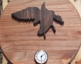Flying duck clock