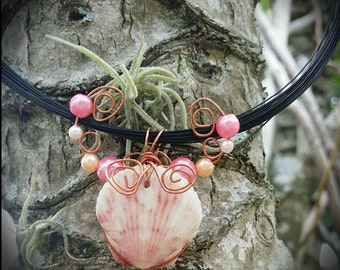 Pink Scallop Necklace