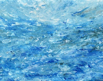 Print - 'Abstract Water #1' Ocean Seascape Painting