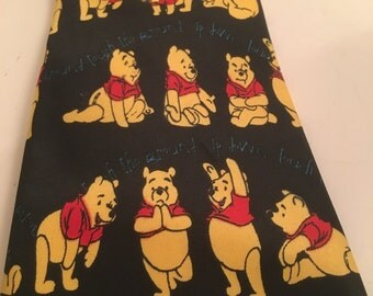 Picasso Winne the Pooh Yoga Exercise Mens Silk Tie Fathers Day Graduation