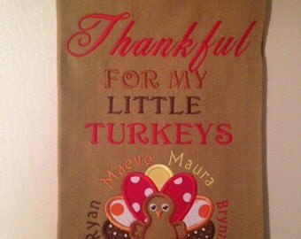 Personalized Thanksgiving Kitchen/Dish Towel